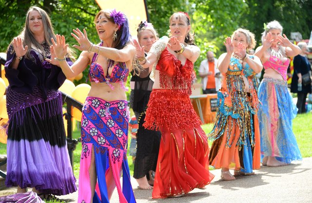 Belly Dance Flames at Fringe Sunday 2019. Photo by David Upcott