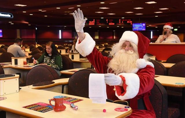 Will Santa score a full house at the Junemas festive celebration at Mecca Bingo, Chesterfield?