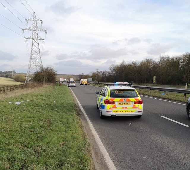 Drivers were put at serious risk on the A617.