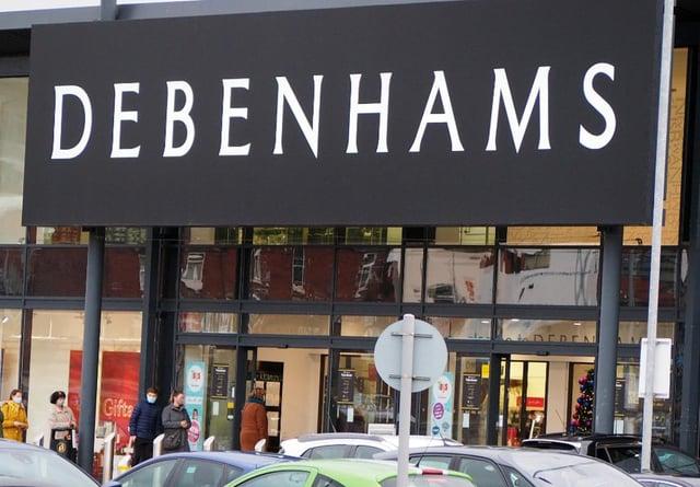Debenhams in Chesterfield.