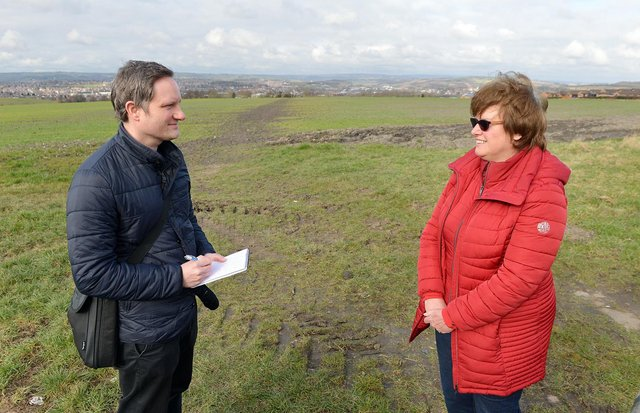 Talking to Councillor Tricia Gilby about the importance of green spaces.