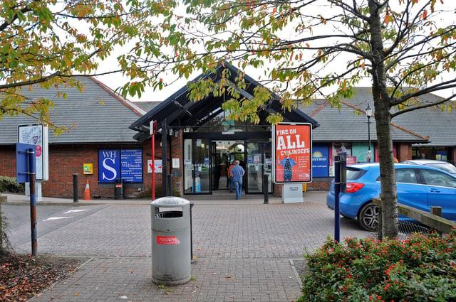 Tibshelf Service Station.