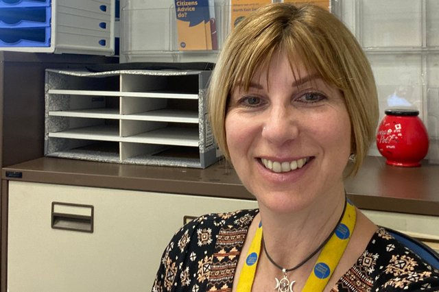 Chief officer at Citizens Advice North East Derbyshire Gillian Sladen.