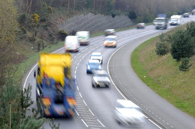 One lane has been shut off on the A38 northbound between the junctions with the A610 and the A61 Alfreton.