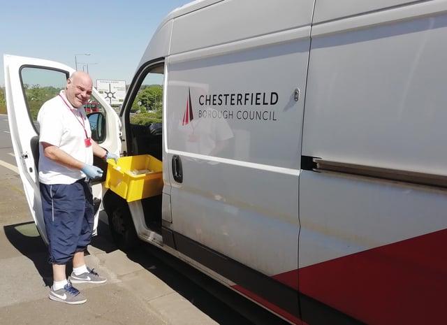 Plasterer Steve Betts helped deliver prescriptions to residents.