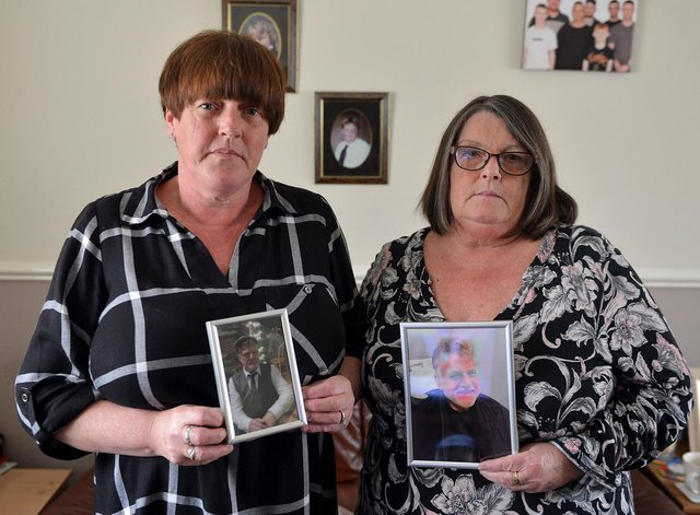 Peter East's sisters Davina Siddall and Joanne East