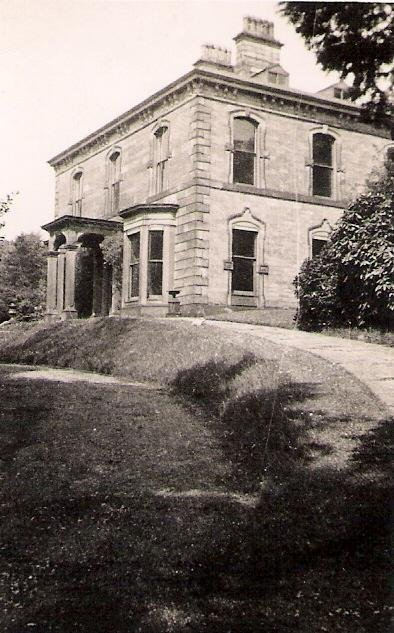 Remnants of Birch Vale House can still be found on the ground.