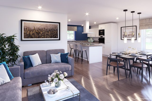 Peter James Homes has revealed new artist impressions of interiors at its Woodlands Heights development in Bullbridge.