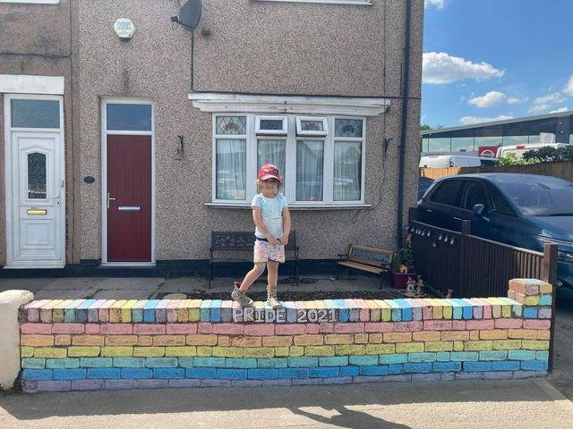 Ismay Bowyer on her Pride Month wall.