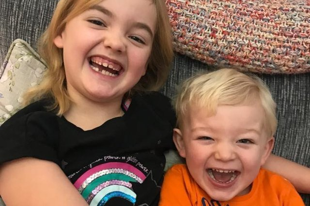 Eva-May Menzies, seven, and her three-year-old brother Bobby, from Brampton, both required critical care at Sheffield Children's last year