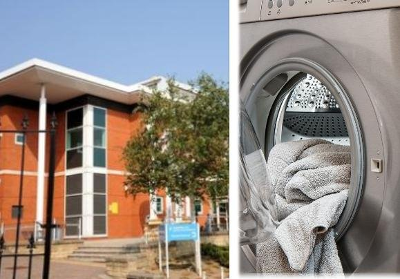 Chesterfield magistrates heard the scuffle broke out between John John Mather and Eleanor Bidmead over her late-night use of a tumble dryer