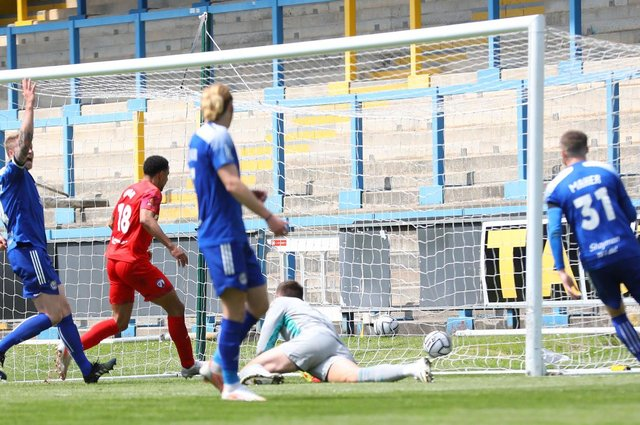 Nathan Tyson struck the winner with 10 minutes to go. Picture: Tina Jenner.