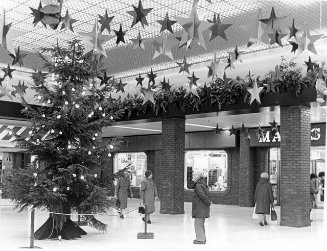Christmas in the newly opened Spring Gardens Shopping Centre in the late 1980s