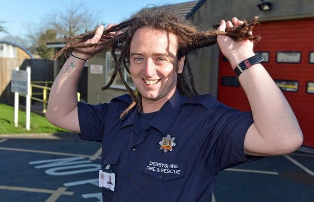 Bolsover firefighter Martin Mcshane will cut the dreadlocks he's had since 2007 next month.