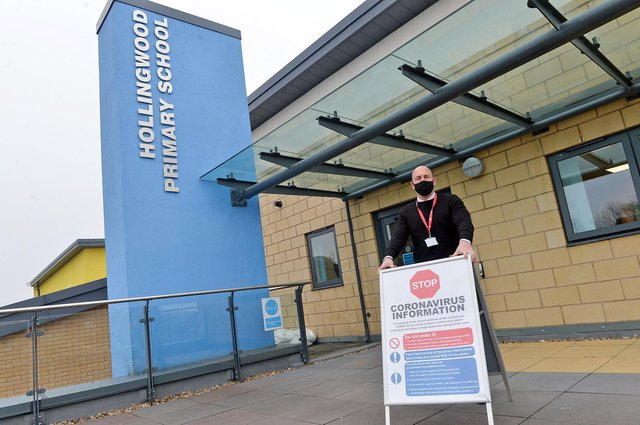 Hollingwood Primary School deputy headteacher Ian Holmes preparing for the full reopening on March 8.
