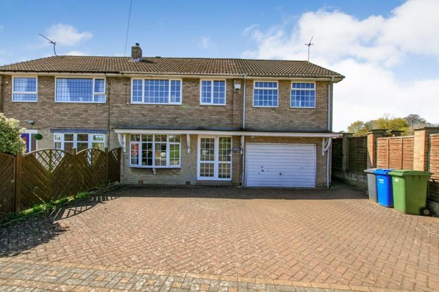The property is described as a spacious, four-bedroom, semi-detached home.