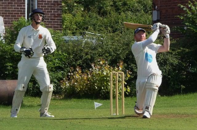 Andy Woolven batting for Grassmoor.