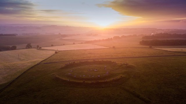 Rod Kirkpatrick of F Stop Press captured this stuuning image as the sun rose over Arbor Low