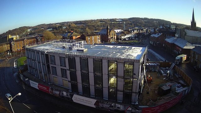 Work is progressing well on the new enterprise centre.