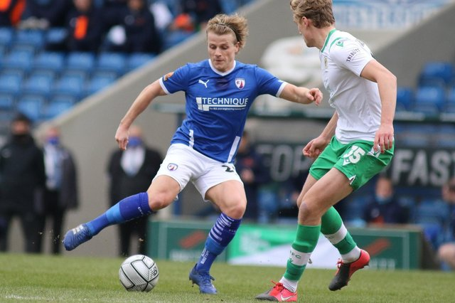 Chesterfield host Weymouth on Saturday. Pictured: Tom Whelan.