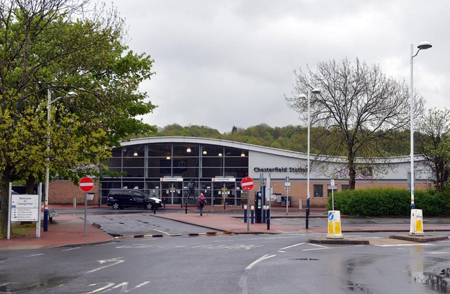 Chesterfield train station. Pictures by Brian Eyre.