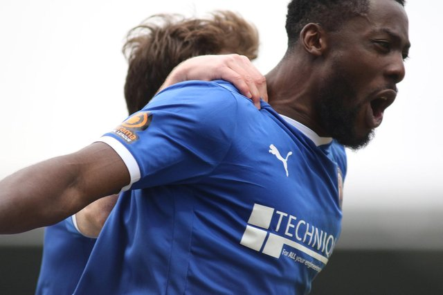Akwasi Asante opened the scoring for Chesterfield as they beat Yeovil Town 3-0.