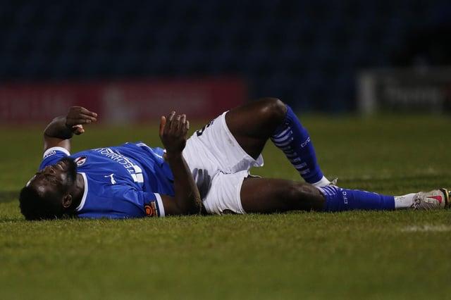 Akwasi Asante suffered a knee injury against Boreham Wood on Tuesday night.