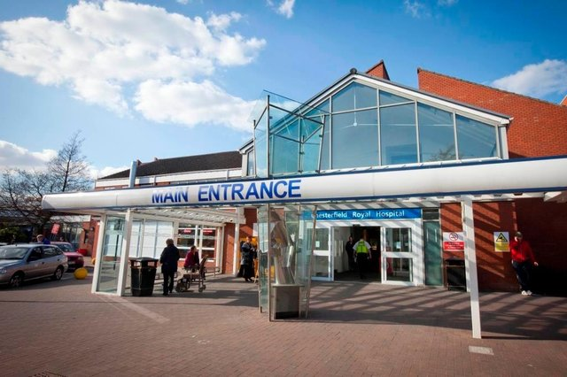 Chesterfield Royal Hospital said it is caring for seven patients with a positive diagnosis of Covid-19, three of whom are receiving critical care, as of July 16