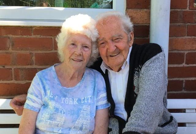 Happy platinum wedding anniversary to Hilda and Len Jagger!