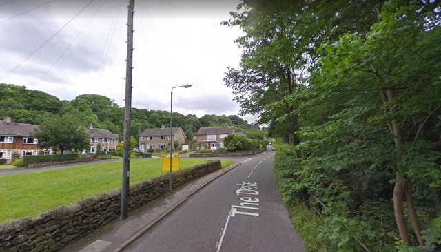 A cyclist was found with a head injury after falling from his bike on The Dale in Hathersage.