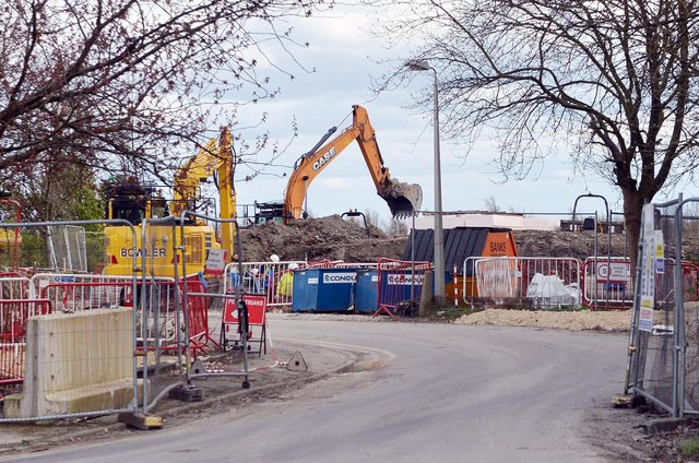 153 homes are being built on unused land next to the Chesterfield's Walton Hospital.