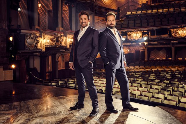 Michael Ball and Alfie Boe in Back Together concert which will be screened in cinemas in September.