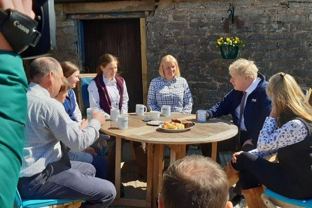 The Prime Minister is in Derbyshire today, visiting a farm in Stoney Middleton.