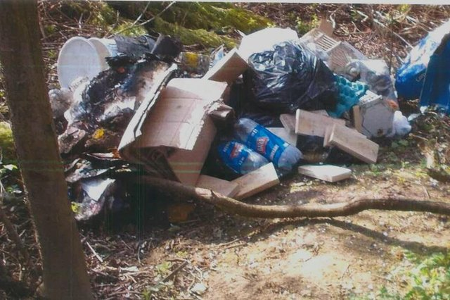 Darren Steele admitted dumping this rubbish and then using an unregistered waste removal company to clear it up