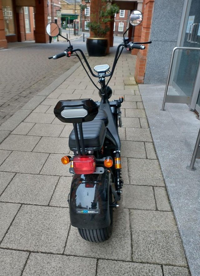 Chesterfield police seized this e-scooter after complaints in the town centre. Image: Chesterfield Town Centre SNT.