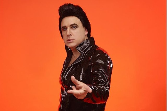 Tim Vine as Plastic Elvis