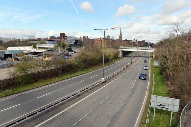 Roads like the A61 into Chesterfield were quiet as driver obeyed the essential travel only order during the first lockdown in March 2020.