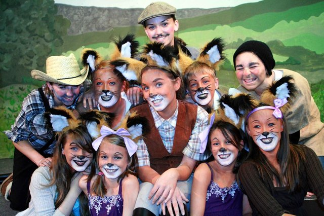 Dronfield Henry Fanshawe School stage The Fantastic Mr Fox in 2009. Our picture shows Anna Lawson, Amber Lemons, Louise Humpage, Chloe Attwood, Eddie Butterfield, Nadia Kleisa , Francesca Morris, Sarah Channon, Chloe Axelby and Hannah Browes.