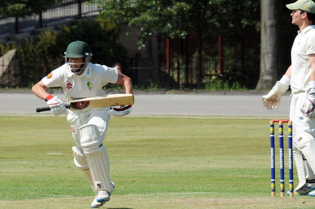 Andrew Parkin-Coates hit 49 not out to help see Chesterfield to victory.