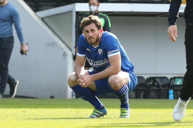 Jak McCourt pictured after the full-time whistle at Meadow Lane. Image: Tina Jenner.