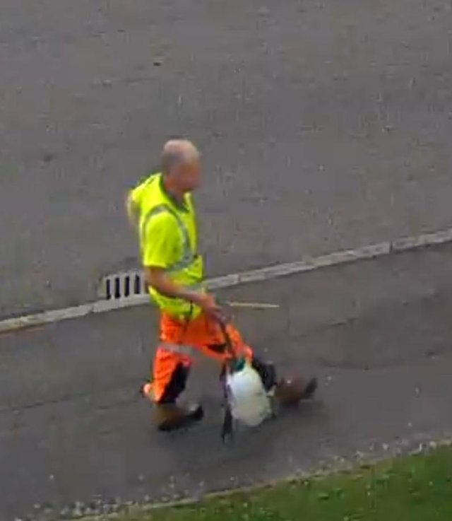 Police are attempting to trace the man pictured above, after he is wanted in connection with offering residents garden and handy man services in Dronfield.