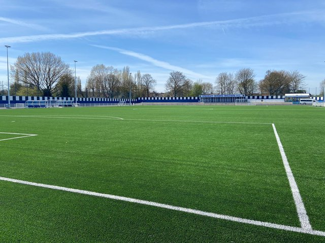 Work has been going on inside and out at Staveley MW in recent months, including the acquisition of a new 3G pitch. Photo/Staveley MW FC.
