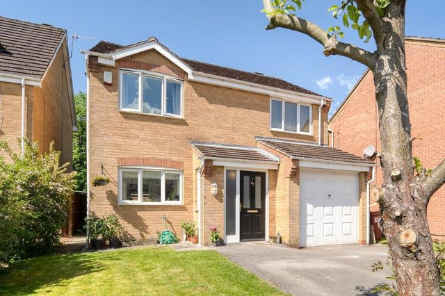 The four-bedroom detached home is on the market for offers in the region of £240,000.