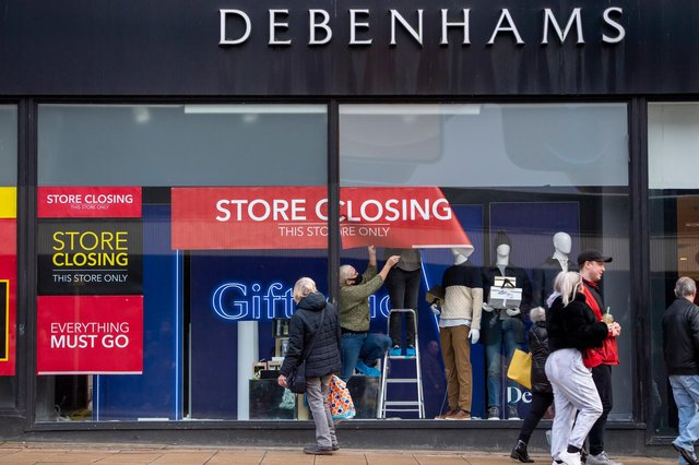 Debenhams will officially close in Chesterfield on May 12. Photo by Anthony Devlin/Getty Images.