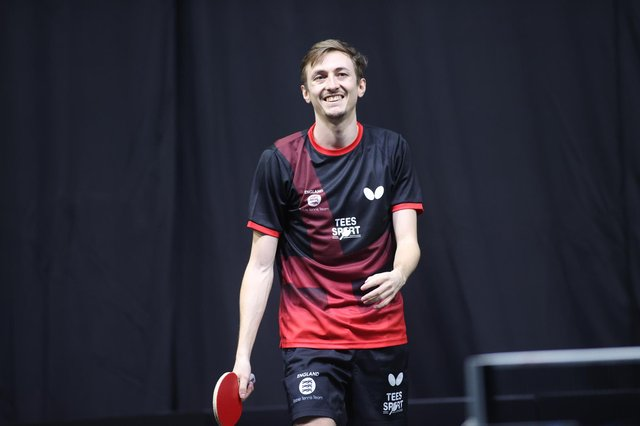 Liam Pitchford is looking to clinch Olympic qualification. Pic by World Table Tennis.