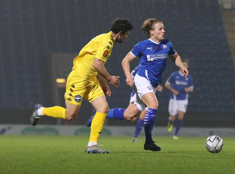 Tom Whelan returned to the starting line-up in Chesterfield's late win against Eastleigh. Picture: Tina Jenner.