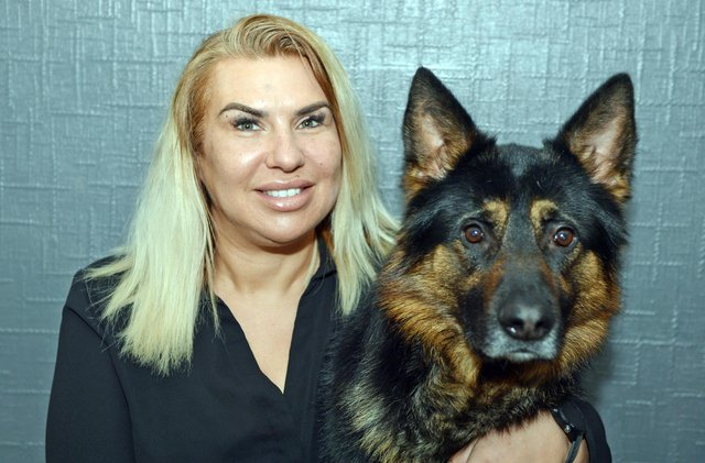 Caroline Tilley seen with dog Kaiser runs a dog boarding business called Doggie Home From Home from her home but has been struggling to keep the business going in lockdown.