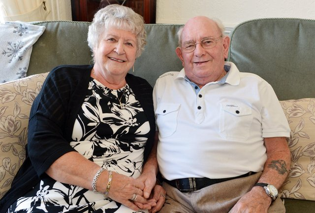 Pete and Pam Cousin celebrate their diamond wedding anniversary on June 17, 2021.