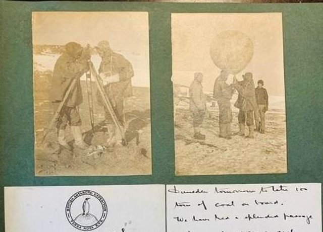 Letters from Derbyshire meteorologist Sir George Simpson with photos of the balloon experiments.