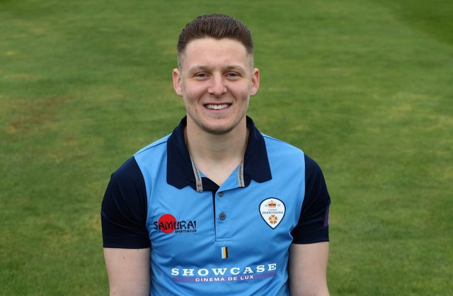 Tom Wood hit 63 not out to guide Derbyshire to victory. (Photo by David Rogers/Getty Images)